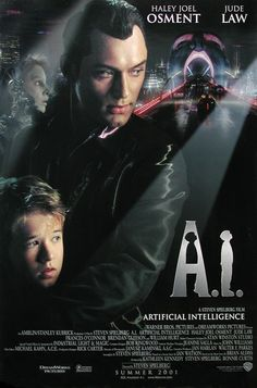 Steven Spielberg's latest movie A.I.: ARTIFICIAL INTELLIGENCE, which he took up at the encouragement of the late, great Stanley Kubrick, has caused widely divergent comments. Description from yts.im. I searched for this on bing.com/images