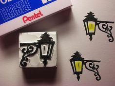 street light eraser stamp