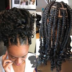 All styles of box braids to sublimate her hair afro On long box braids, everything is allowed! For fans of all kinds of buns, Afro braids in XXL bun bun work as well as the low glamorous bun Zoe Kravitz. Box Braids Hairstyles, Braided Cornrow Hairstyles, Frontal Hairstyles, Hairstyle Ideas, Box Braids Updo, Cornrows, Hairstyles 2018, 5 Braid, Braids Easy