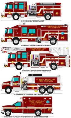 Golden Acre Leaf Fire Co. trucks by MisterPSYCHOPATH3001