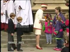 Princess Diana in Toronto, Canada  Diana and Princes William & Harry on a walkabout after church service at St. James Cathedral. October 27, 1991.