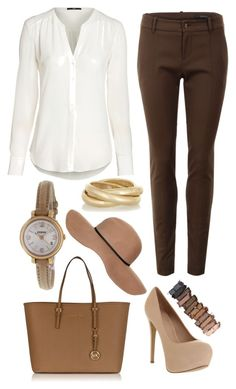 """""""Untitled #87"""" by classy-chic-me ❤ liked on Polyvore featuring Gucci, Office, Michael Kors, Topshop, FOSSIL, Kenneth Jay Lane, Urban Decay and classychicme"""
