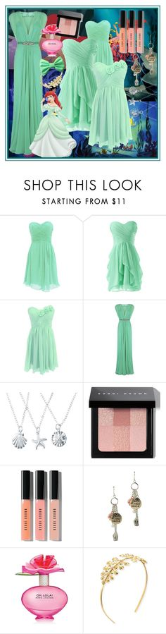 """Ariel prom inspiration"" by evol-love ❤ liked on Polyvore featuring Jenny Packham, Bobbi Brown Cosmetics, Disney, Marc Jacobs, Tuleste and Retrò"
