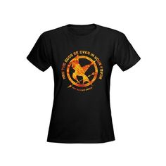 Flaming Mockingjay Odds Tee ($26) ❤ liked on Polyvore featuring tops and t-shirts