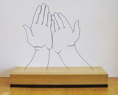 Esculturas con alambre de Gavin Worth