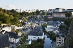 A view of Grund, the oldest, and lowest, section of Luxembourg City.