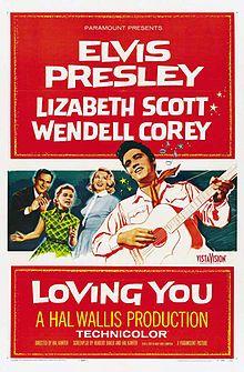 Loving You. Elvis Presley, Lizabeth Scott, Wendell Corey, James Gleason, Paul Smith. Directed by Hal Kanter. 1957