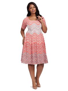 Coral Chevron Fit &