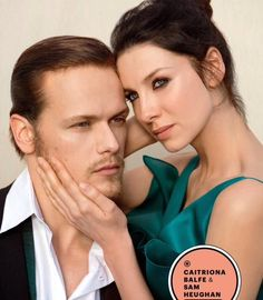 """@primrosesandrue: NEW (cropped) pic of Sam and Cait from EW scan via outlander-online #Outlander """