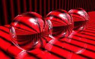 Refraction of light. 3d Desktop Wallpaper, Refraction Of Light, Glass Ball, Red Glass, Red Color, Crystal Ball, Art Background, Balls, Crystals