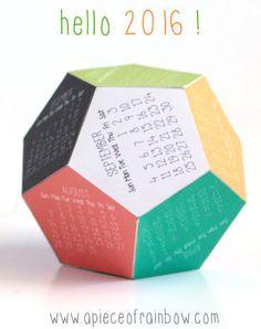 Imprimibles: Calendarios 2016
