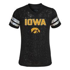 Girls 4-6x Iowa Hawkeyes Opal Burnout Tee,