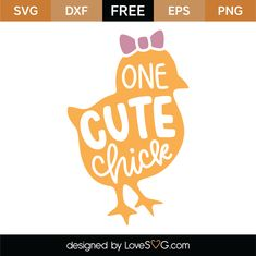 One Cute Chick SVG Cut File 8638 free svg svg files for cricut Cricut Tutorials, Cricut Ideas, Cricut Craft, Cricut Vinyl, Baby Svg, Canvas Signs, Vinyl Shirts, Silhouette Cameo Projects, Cricut Creations