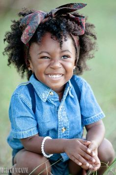 Are you in search of easy hairstyles for black girls? If so, check out our collection of cute hairstyles for little black girls! Beautiful Children, Beautiful Babies, Cute Kids, Cute Babies, Curly Hair Styles, Natural Hair Styles, Natural Beauty, Belleza Natural, Black Is Beautiful