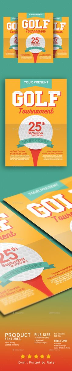 Golf Tournament Flyer Event flyer templates, Event flyers and - golf tournament flyer template