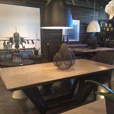 Concrete Tops. Kid Friendly Loving this dining table from @sunpanmodernhome #sunpan #sunpanmodernhome #hpmkt #hpmkt2015 #highpointmarket