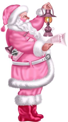 Santa all in pink. She had a pink Santa at Christmas in her pink room. Shabby Chic Christmas, Vintage Christmas Cards, Pink Christmas, Christmas Pictures, Christmas Holidays, Merry Christmas, Xmas, Whimsical Christmas, Christmas Ideas
