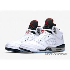 sports shoes 81b9c 9d106 Air Jordan 5 White Cement White Fire Red-Tech Grey-Black 136027-104  Basketball Shoes Outlet