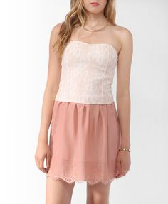 Lace Overlay Bustier | FOREVER21 - 2012236883