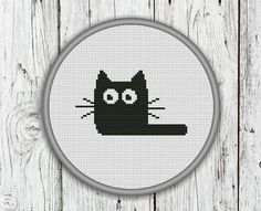 Hey, I found this really awesome Etsy listing at https://www.etsy.com/listing/174394181/black-cat-counted-cross-stitch-pattern