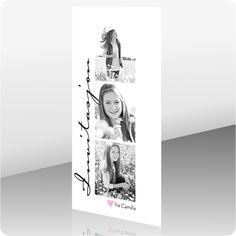 Invitasjon konfirmasjon, 200411 - 2 sider, 99 x 210 mm - Kortshop. Home Crafts, Diy And Crafts, Birthday Invitations, Polaroid Film, Reception, Inspiration, Creative, Party, Handmade