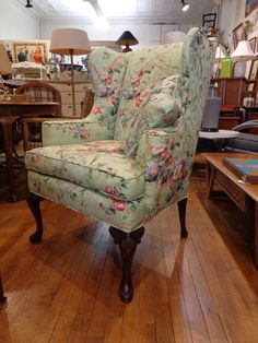 Delightful HICKORY CHAIR Co. Queen Anne Wing Back Chair  #QueenAnne #HickoryChairCo