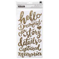 Story Phrases Sticker  Gold Glitter Foam Sticker  by iluvdesign