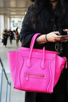 Neon Celine bag!  Actually... one in every color...