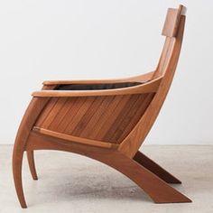 """Sabre"" armchair designed in 1993 by @carloslmotta.  @eliseucavalcante #braziliandesign #contemporarydesign #brazilianfurniture #brazilianarchitecture #collectables #chair"