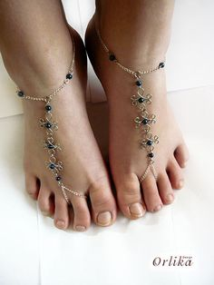 Wire Wrapped Barefoot Sandals Beach wedding dance by Orlika, $39.90