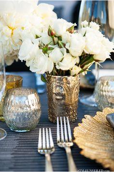 Décoration de mariage argentée #silver #argent #argenterie http://www.instemporel.com/blog/index/billet/6588_decoration-mariage-argent