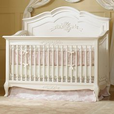 Dolce Babi Angelina Convertible Crib in French Vanilla