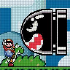Super Mario World Bullet Bill pattern by MadebyJadeCrafts