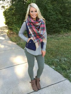 Really love the scarf and long sleeve shirt