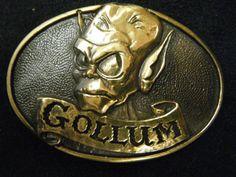 Vintage Gollum Tolkien Enterprise 1979 Belt Buckle. $45.00, via Etsy.