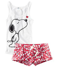 H&M Snoopy PJs... so cute and comfortable :)