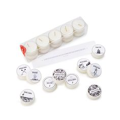Mini Library Scented Tea Lights - Set of 10 | Book Lover Scented Candles | UncommonGoods