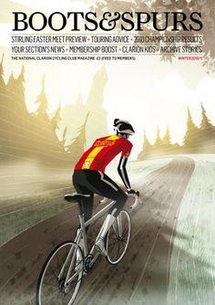 Velo Illustration 22: «Boots & Spurs», Winter 2010. «Boots & Spurs» ist das Magazin des traditionsreichen britischen Clarion Cycling Club. Der CCC hatte bei seiner Gründung 1894 als Arbeiter-Radfahrerverein auch gesellschaftlich-politische Ziele, die heute jedoch im Hintergrund stehen.