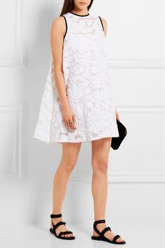 Victoria, Victoria Beckham | Cotton-blend jacquard mini dress | NET-A-PORTER.COM