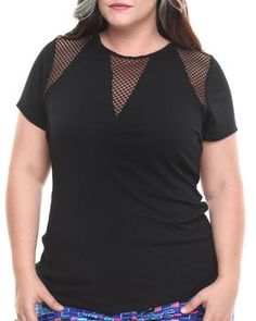 Love this Mesh Inserts Top (Plus) by Baby Phat on DrJays. Take a look and get 20% off your next order!