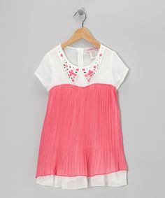 Look at this Fuchsia Jewel Collar Tunic - Girls on #zulily today!