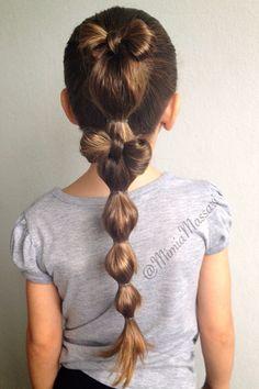 Bubble pony with hair bow by @mimiamassari