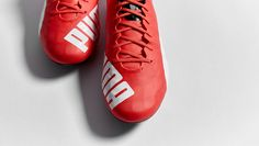 """PUMA evoSPEED SL """"Red/White/Black"""" Red Design, Football Boots, Soccer Cleats, Red And White, Black, Cool Designs, Nice, Sneakers, Shoes"""