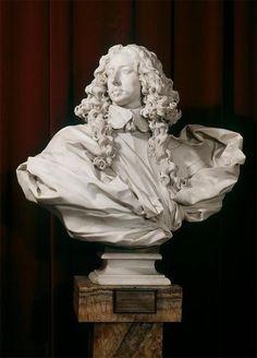 Gian Lorenzo Bernini. Bust of Francesco I d'Este. 1650-1651.  Marble.  Galleria Estense. Modena, Italia.