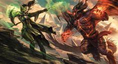 Duel Decks Nissa vs. On Nixilis artwork Magic the Gathering