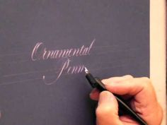 Copperplate calligraphy - YouTube