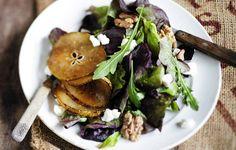 Karamellisoitu päärynä ja suolainen vuohenjuusto ovat kuin luotuja toisilleen.