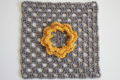 French Nannie's Granny Flower Square by craftyminx