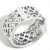 Coach pierced op art band ring