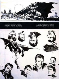 Batman Year One sketchbook material by David Mazzuchelli.